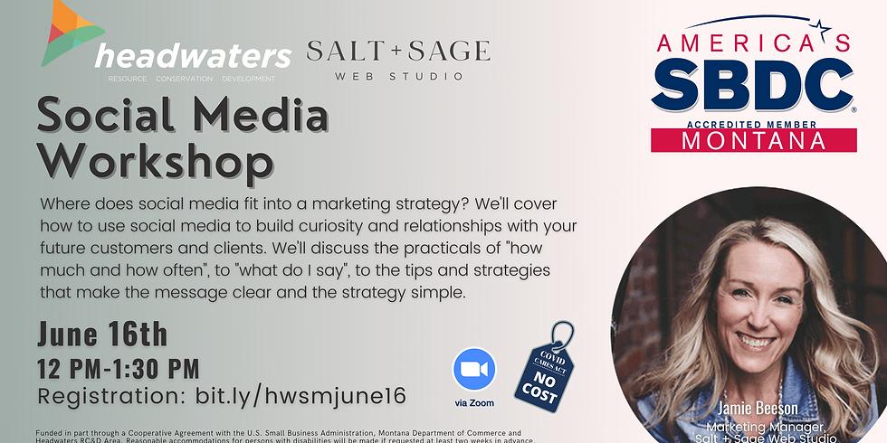 Social Media Workshop w/ Salt + Sage Web Studio