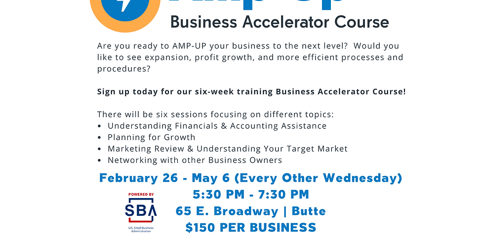 POSTPONED-SBDC Training- Amp-Up Business Accelerator Course