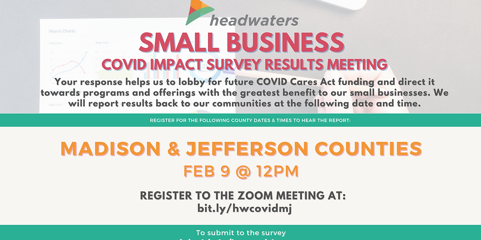 Madison & Jefferson Counties Small Business COVID Survey Results Meeting