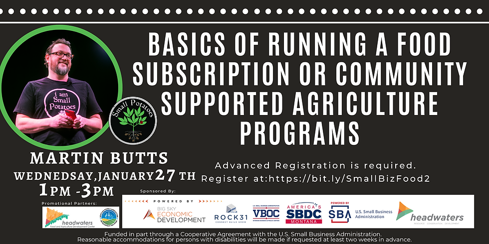 Basics of Running a Food Subscription or Community Supported Agriculture Programs