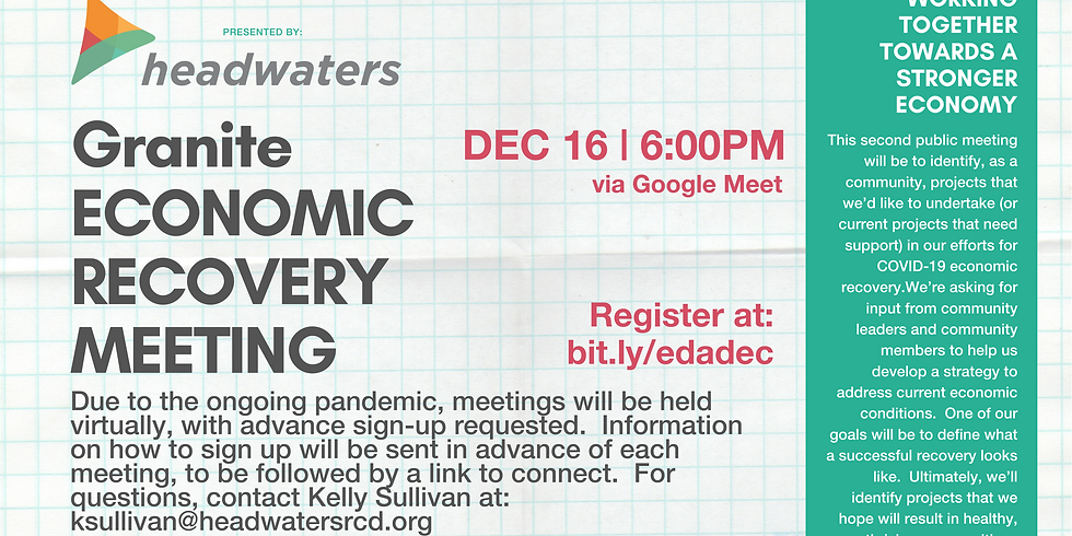 Granite Economic Recovery December Meeting