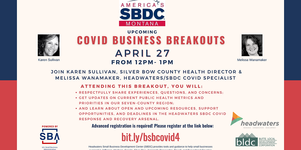 COVID-19 Business Breakout Chat with Karen Sullivan - April 27th