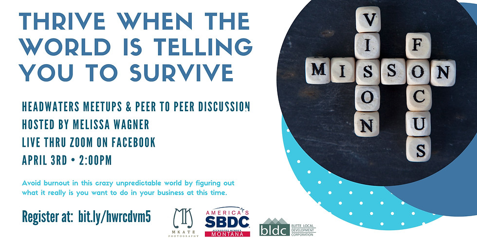 Thrive When the World is Telling You to Survive - Virtual Meetup