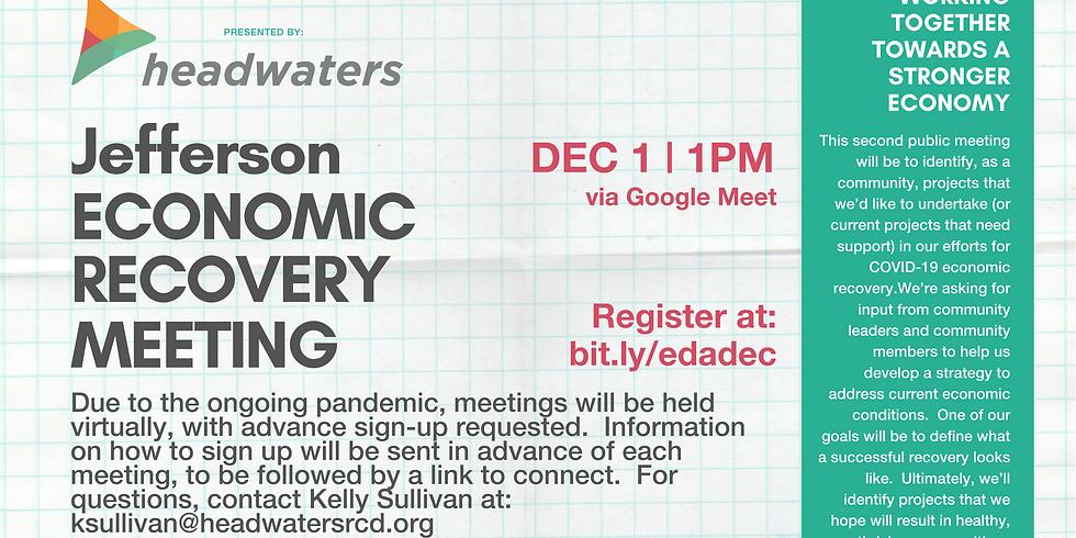 Jefferson Economic Recovery December Meeting