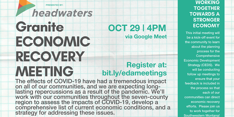 Granite County Economic Recovery Community Meeting