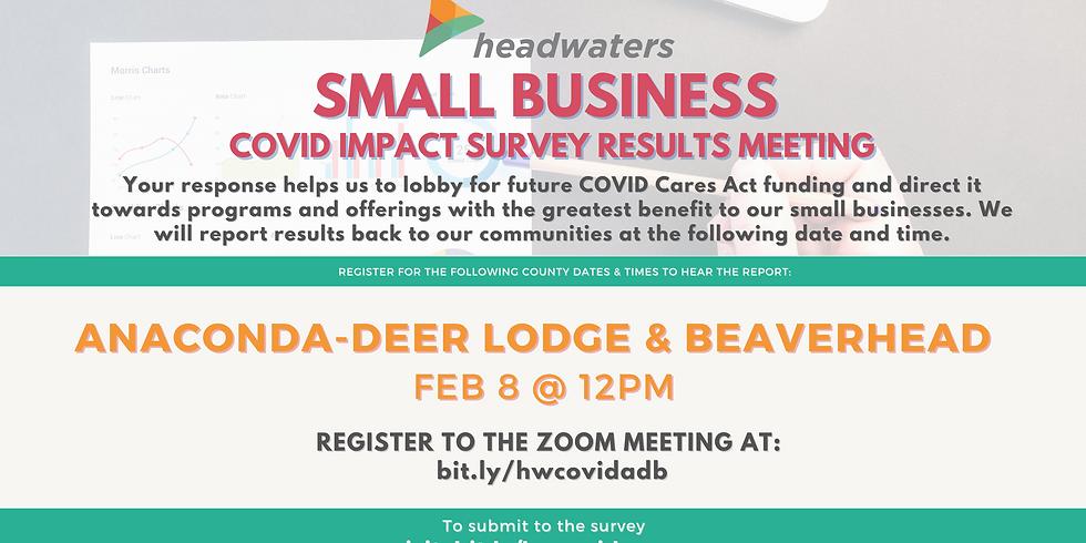Anaconda-Deer Lodge/Beaverhead Small Business COVID Survey Results Meeting