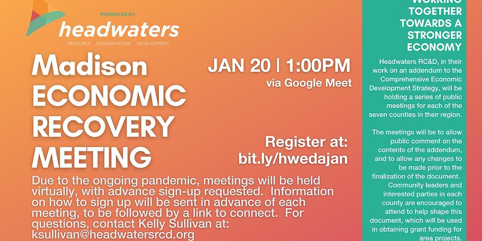 Madison January Economic Recovery Meeting