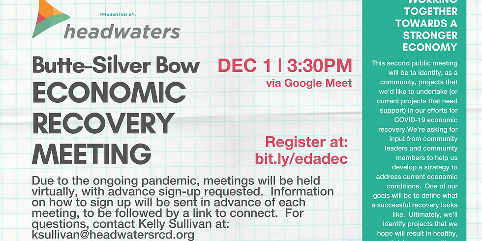 Butte Economic Recovery December Meeting