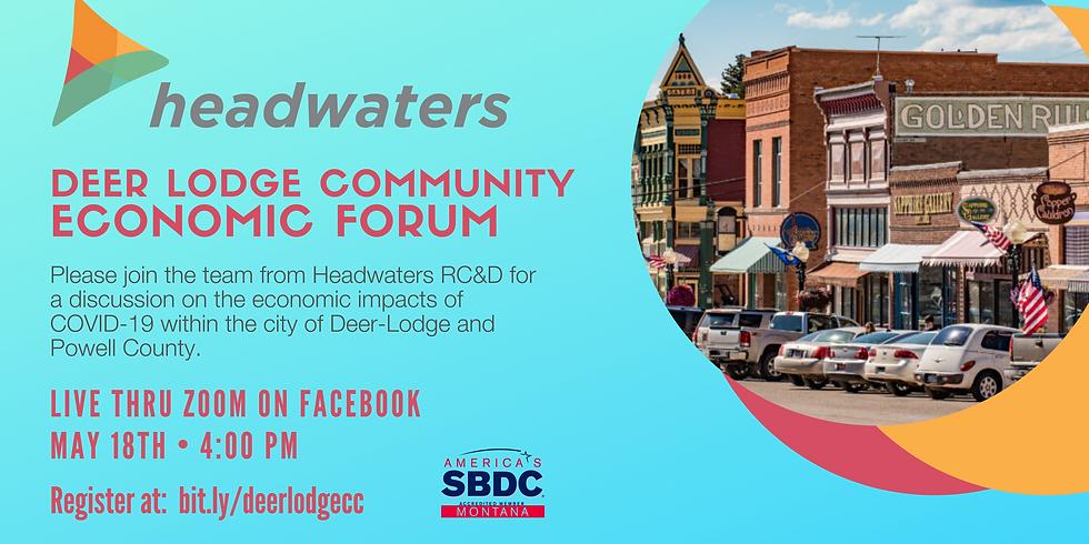 Deer Lodge Community   Economic Forum