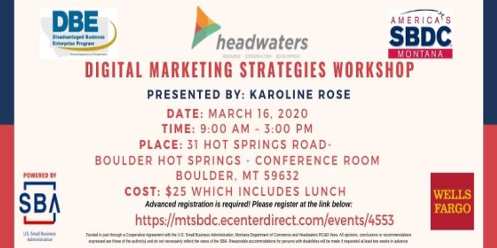 SBDC Training- Digital Marketing Strategies Boulder