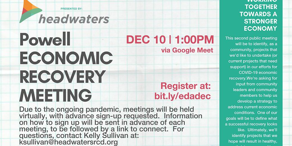 Powell-Deer Lodge Economic Recovery December Meeting