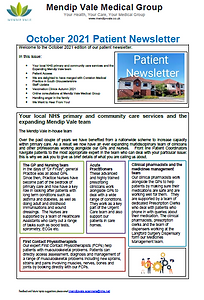 Oct 2021 Patient Newsletter front cover.PNG