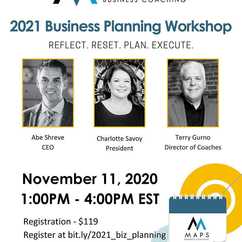 2021 Business Planning Workshop