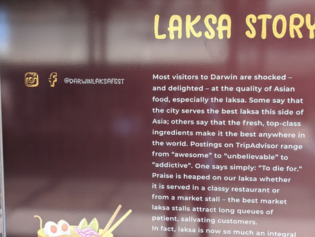 Darwin loves a good laksa