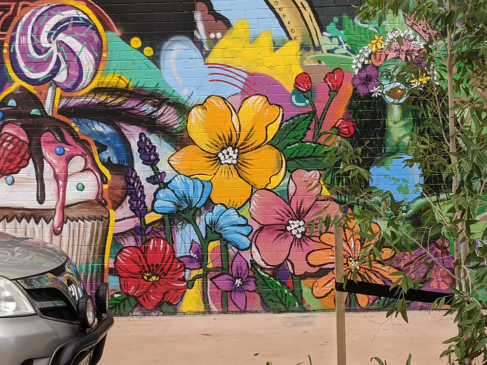 Steet art in Austin Lane