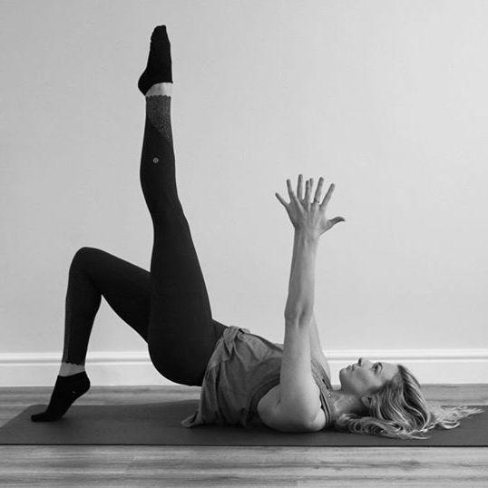 Pilates at home.