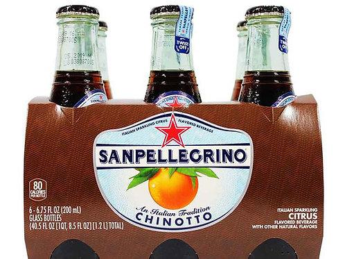 San Pellegrino Chinotto Italian Sparkling Citrus 6.75 oz - Pack of 4