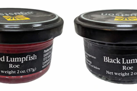 Agustson Black and Red Lumpfish Caviar 2 oz Variety, (2 PACK)