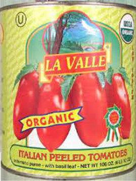 LA VALLE Oraganic Peeled Tomatoes 14oz.