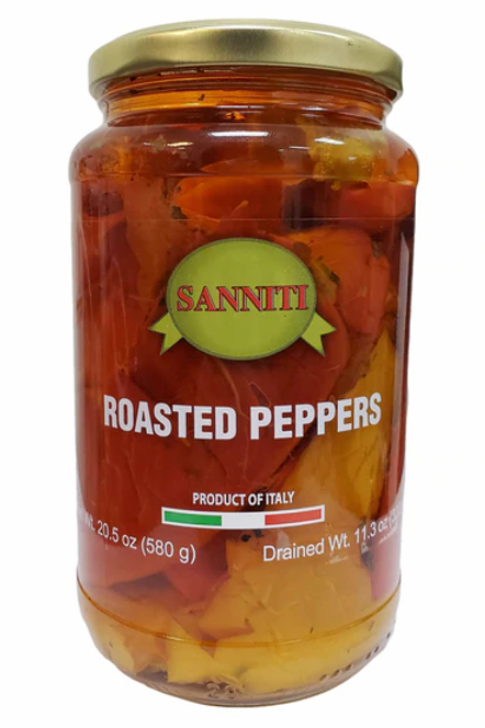 Sanniti Roasted Peppers Jar, 20.5 oz