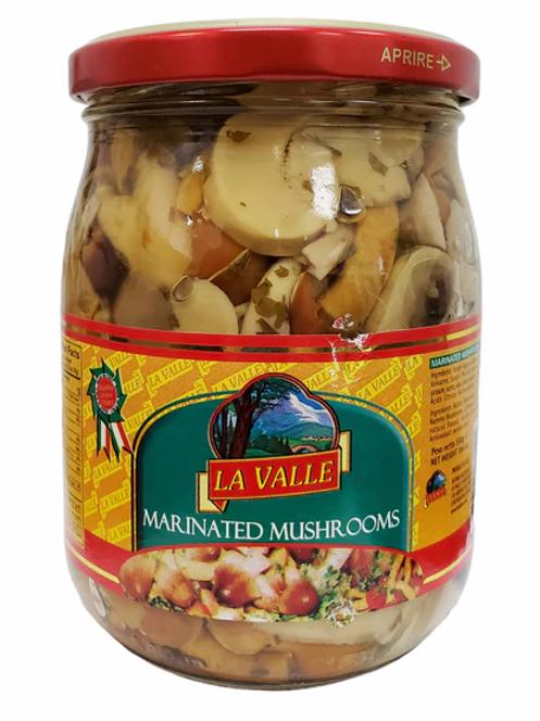 Italian Marinated Mushrooms in oil by La Valle - 19.4oz
