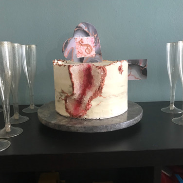 Rose Gold Geode cake