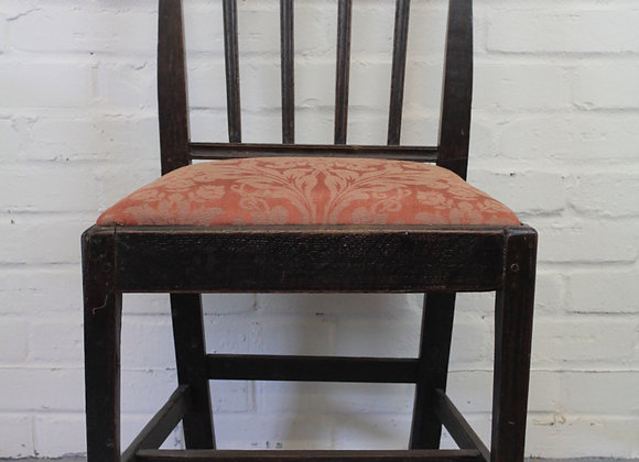 Georgian Oak Upholstered Chair