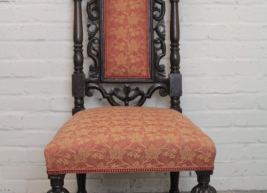 Victorian Carved and Stained Oak Chair