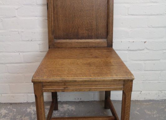 Ecclesiastical Panel Back Hall Chair