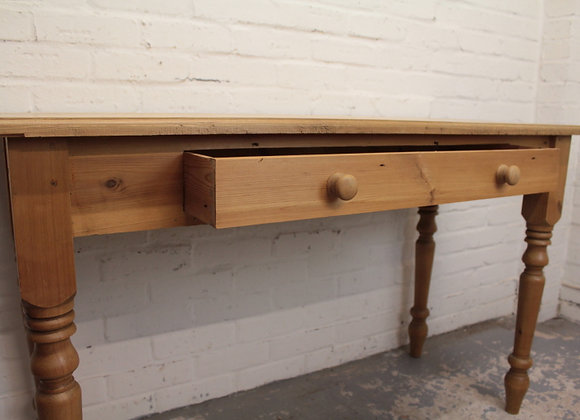 Long Natural Pine Console Table