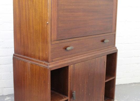 Art Deco Mahogany Bureau