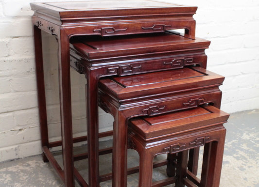 Chinese Quartetto Nest of Tables