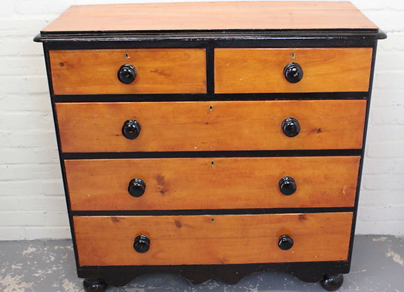 Country Pine Chest of 5 Drawers