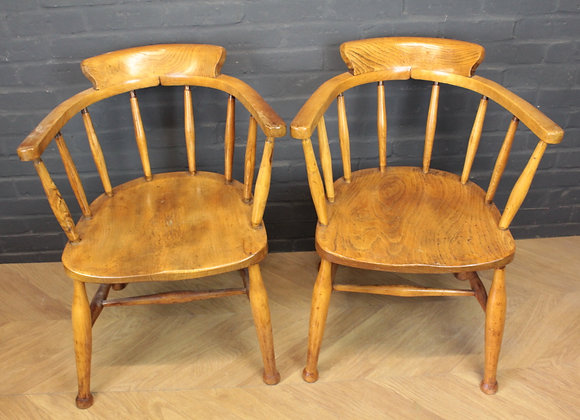 Elm Smokers Bow Captains Chairs