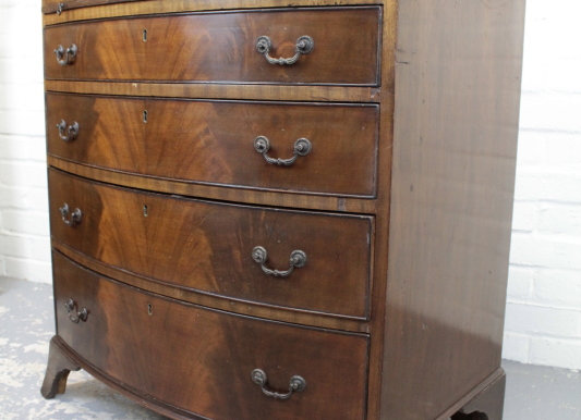 Regency Style Mahogany Bow Front Chest