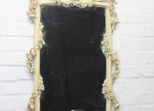 Rococo Style Decorated Wall Mirror