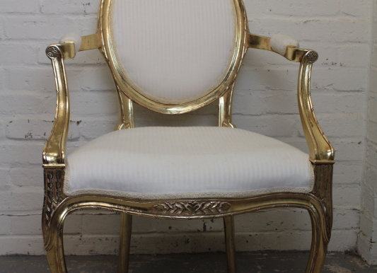Fauteuil Style Continental Open Armchair