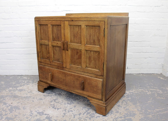 Arts and Crafts Oak Storage Cupboard