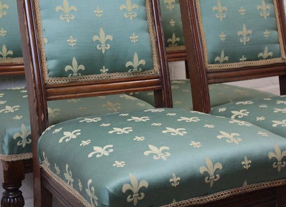Set of 4 Edwardian Mahogany Dining Chairs