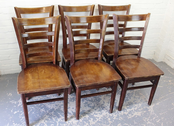 Set of 6 Bentwood Cafe Bistro Chairs