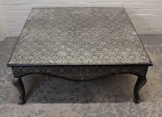 Foil Embellished Coffee Table