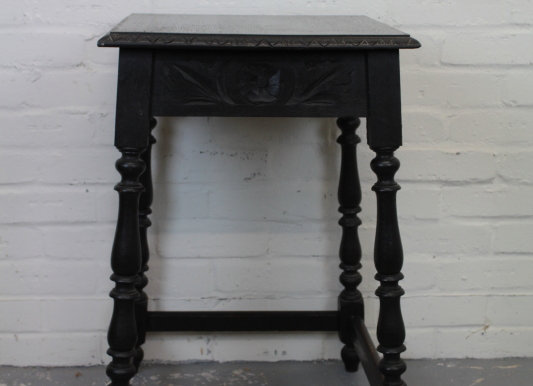 Ebonised Occasional Table