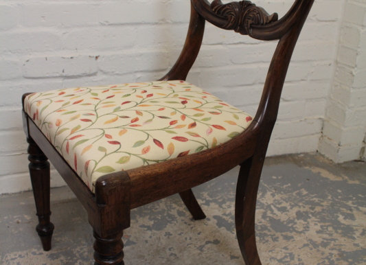 Rosewood Kidney Back Occasional Chair