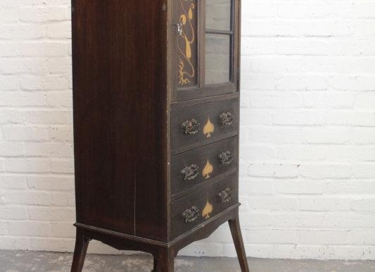 Art Nouveau Mahogany Cabinet