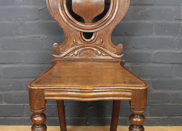 Victorian Hall Stool with Circular Back