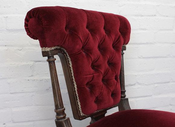 Deep Red Velvet Nursing Chair