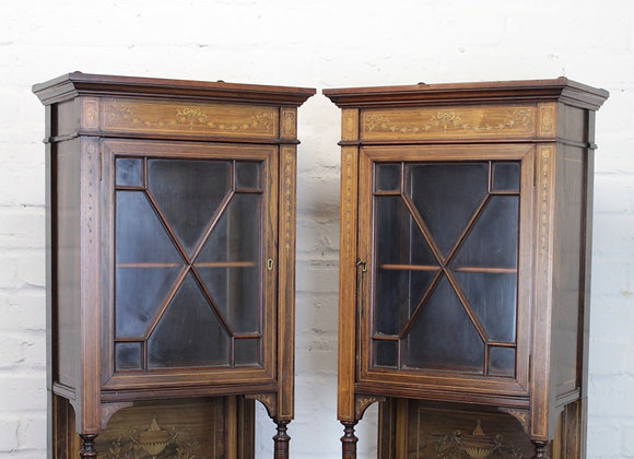 Pair of C19th Rosewood Wall Cabinets