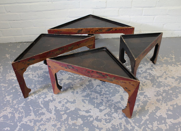 Nest of 4 Triangular Occasional Tables