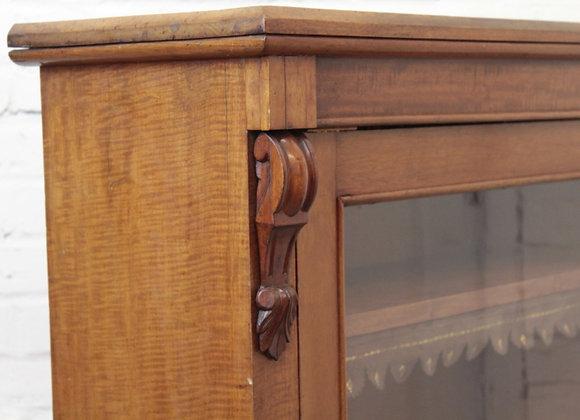 Golden Mahogany Glazed Pier Cabinet