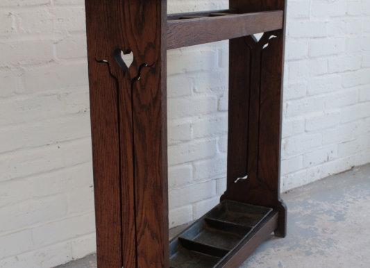 Oak Arts and Crafts Stick Stand